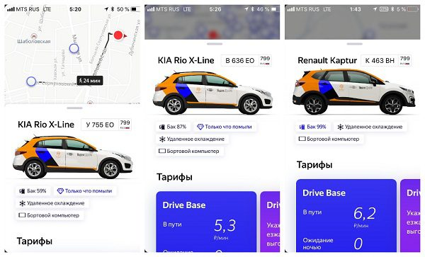 Тарифы на Яндекс Драйв