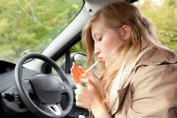 в авто нельзя курить