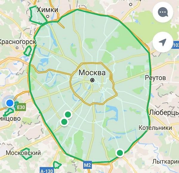 зона покрытия яндекс драйв